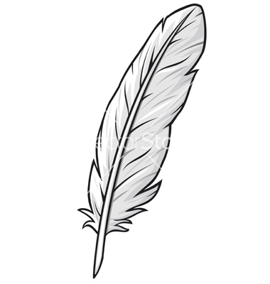 feather-vector-by-tribaliumvs-image-1028154-vectorstock-kT6QUs-clipart